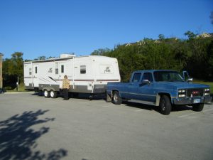 RV Towing Travel Trailer